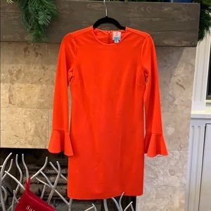 Cece dress with ruffle sleeve. Size XS